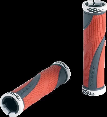 Gripy XLC Sport GR-S23 – červená/šedá