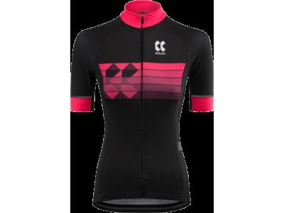 Dámský cyklistický dres KALAS motion Z – černá/růžová