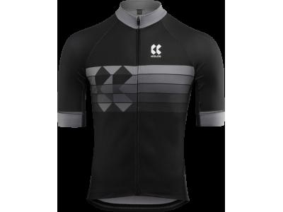 Pánský cyklistický dres KALAS motion Z – černá/šedá