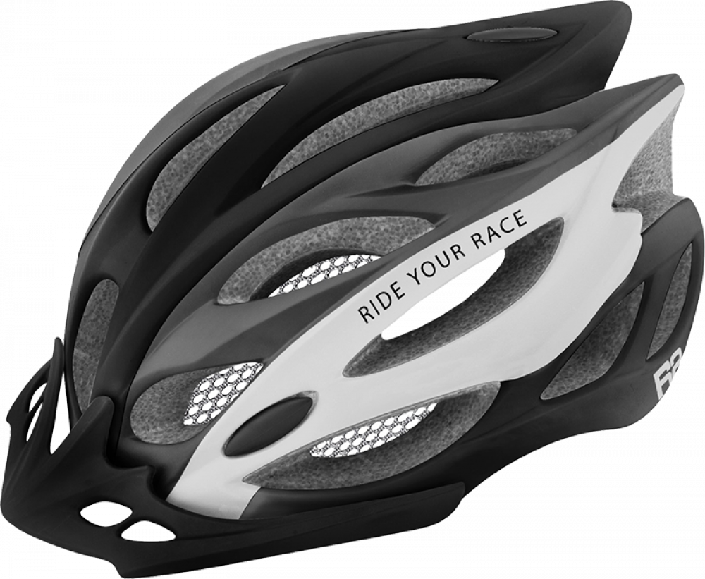 Cyklistická přilba R2 ATH01A1 WIND – černá/bílá