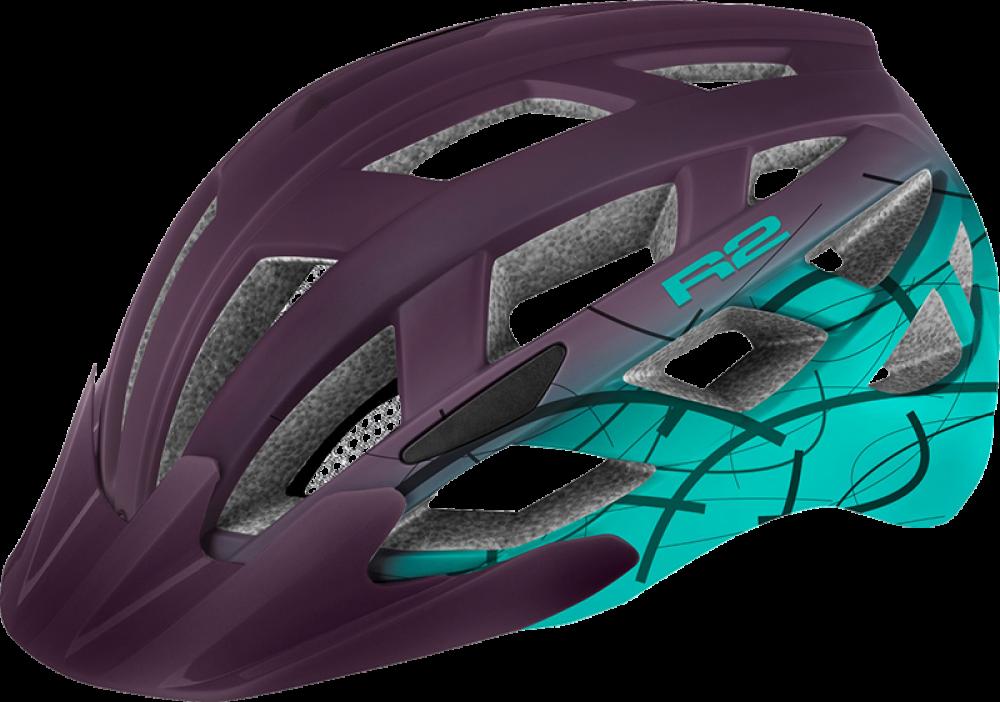Cyklistická přilba R2 ATH18E LUMEN – fialová/tyrkysová