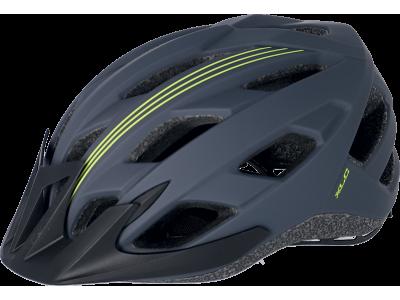 Cyklistická přilba XLC BH-C28 – šedá/černá/žlutá