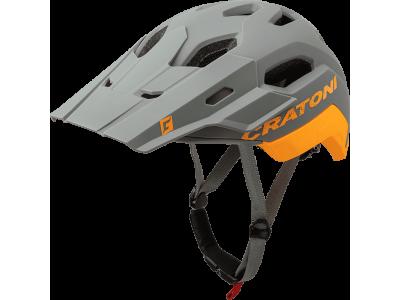Cyklistická přilba Cratoni C-Maniac 2.0 Trail – šedá/oranžová