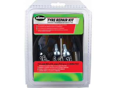 Opravná sada Slime s knotem s CO2 – Tyre Repair kit