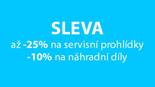 AKCE -25% na servisní prohlídky a -10% na náhradní díly